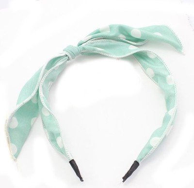 Dots-pattern chiffon bow-knot headband