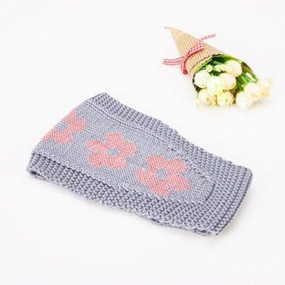 Pretty flowers crochet headband