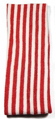 Knitted-wool striped stretch headband