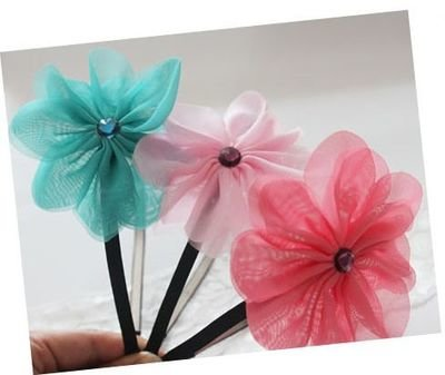 Summer chiffon flower headband