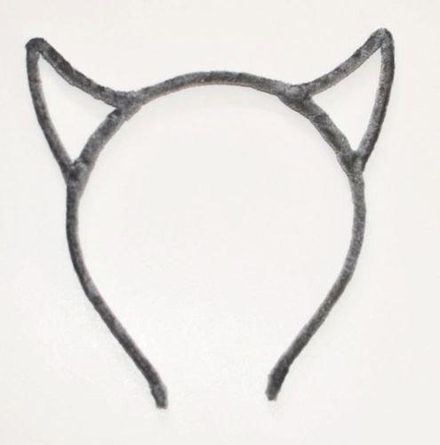 Velvet devil ears headband