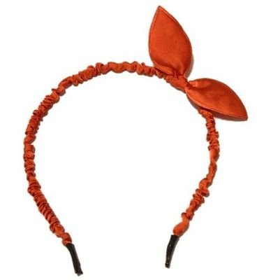 Satin-ribbon cute bunny ears headband