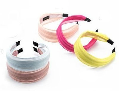 Organza sheer ribbon wide headband
