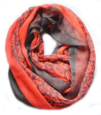 Neon leopard infinity scarf