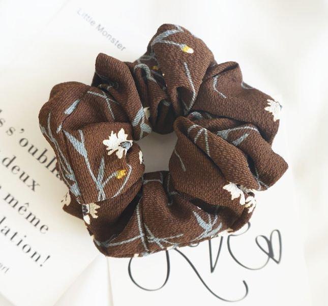 Daisy printing chiffon  scrunchies
