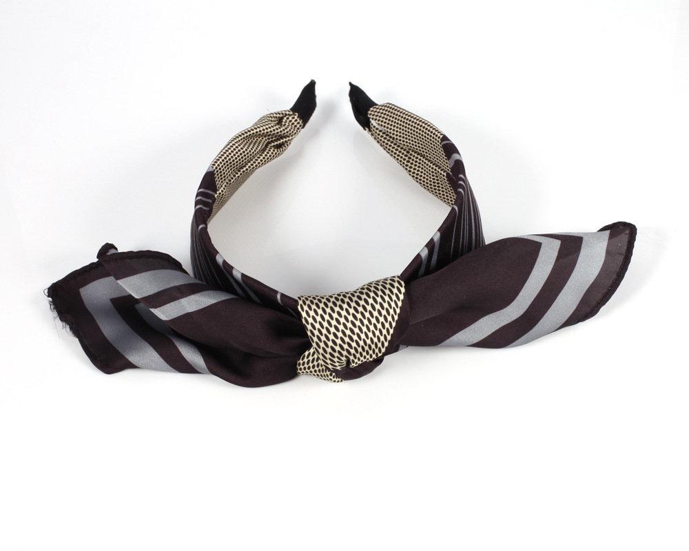 Tie-up scarf bow headbands