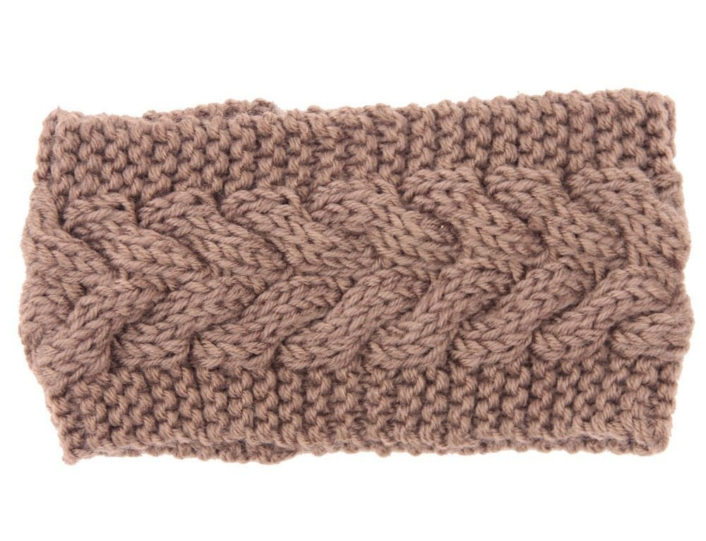 Braided loop crochet headband