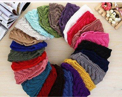 Braided loop crochet headband