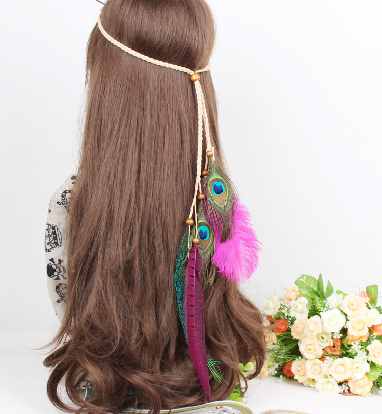 Gorgeous feathers hair band - Hot pink
