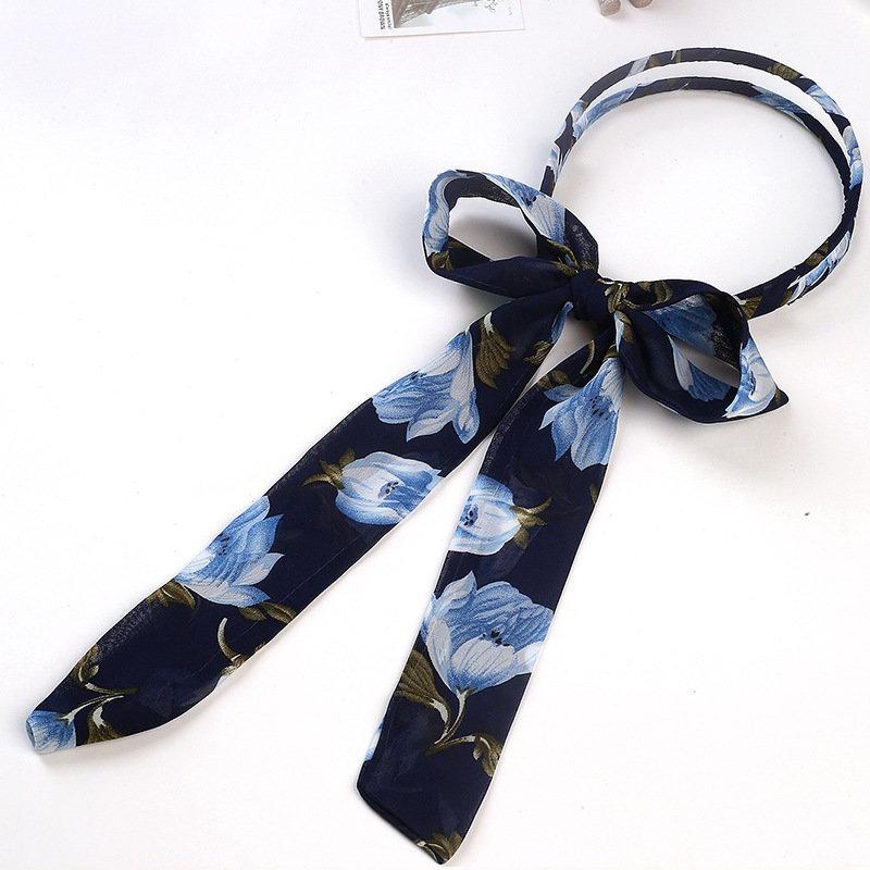 Long ribbon double-loop headband