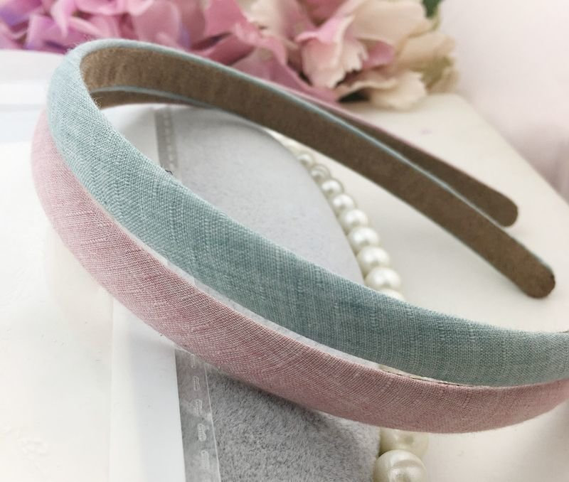 Jeans fabric thin headband