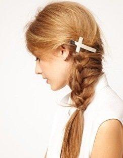 Cross hair barrettes