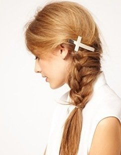 Cross hair barrettes