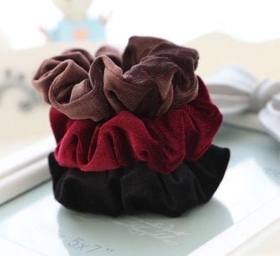 Premium velvet scrunchies