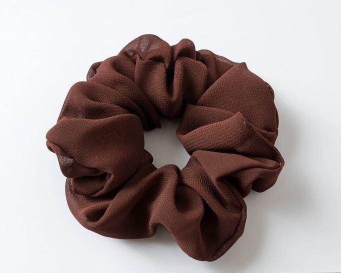 Premium chiffon plain scrunchies