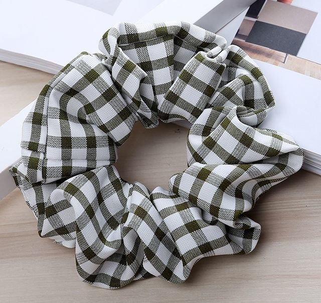Premium check plaids scrunchies