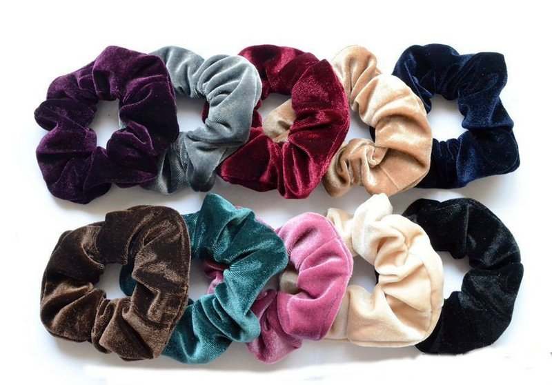 Smooth velvet scrunchies
