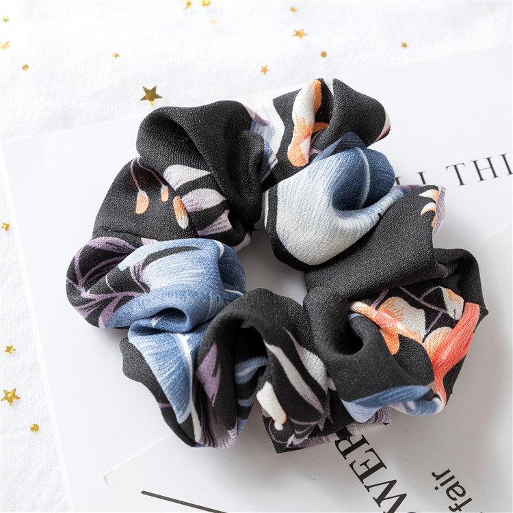 Premium floral scrunchies