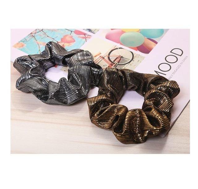 Hot metal colours scrunchies