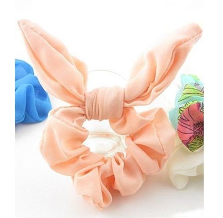 Plain chiffon scrunchies with twist bow