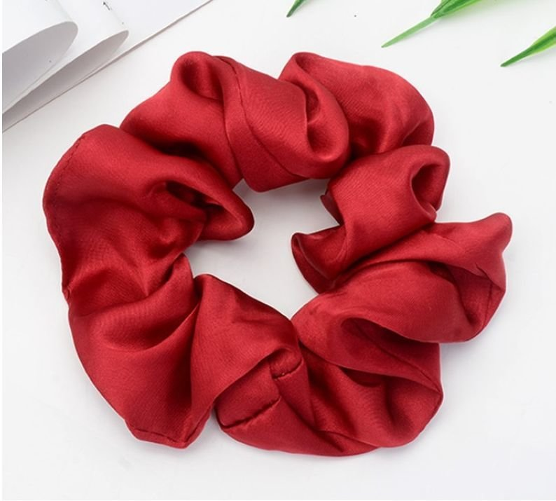 Matte satin scrunchies