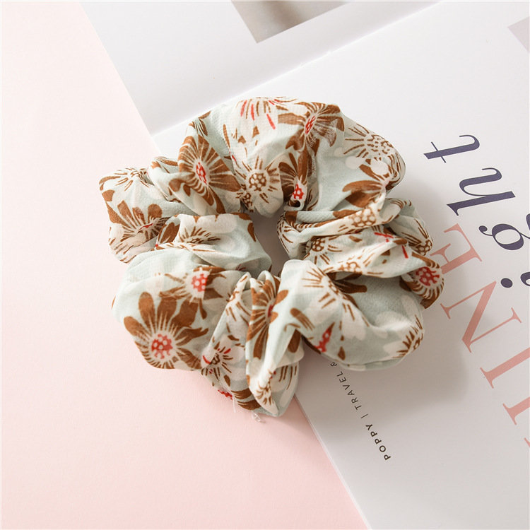 Sun flowers chiffon scrunchies