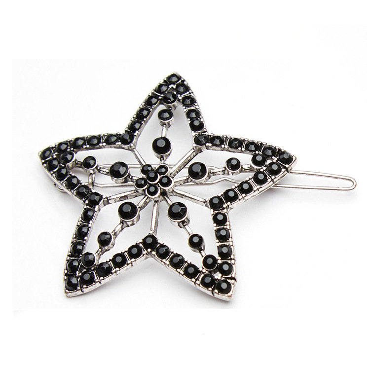 Black beads hair clips