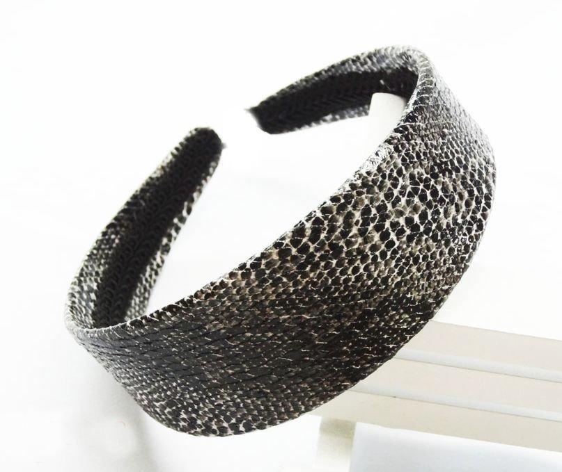 Snake skin design wide headband