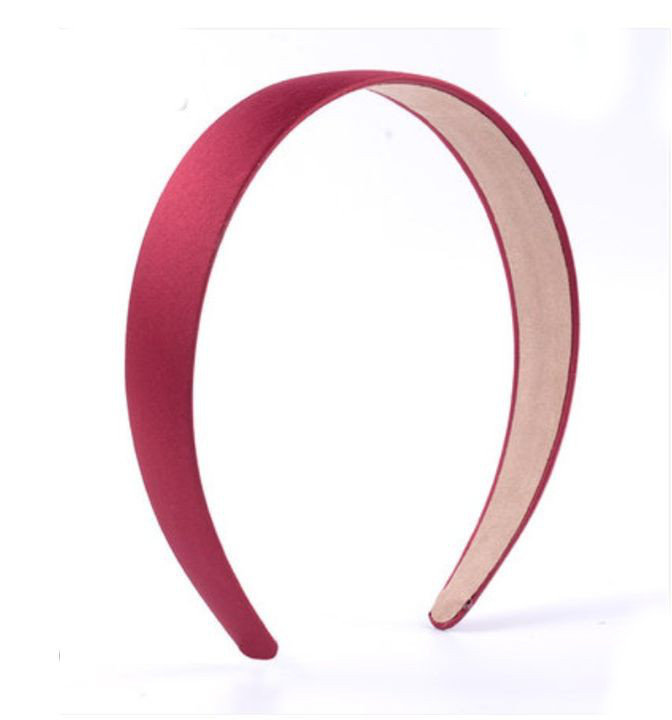 2.8cm-wide matte satin headband