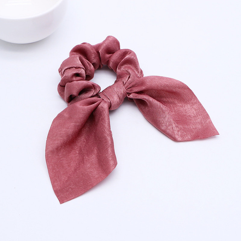 Premium satin ribbon bow scrunchies