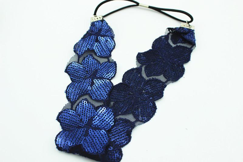 Lace sequins luxury flower headband