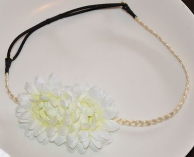 Faux African daisy flower headband