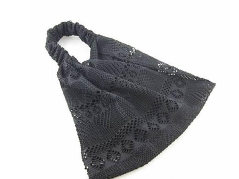 Elastic lace bandanna headband