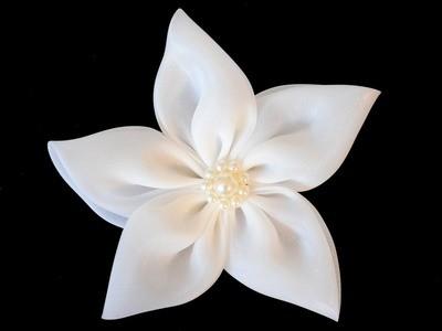 Organza 5-petal flower clip