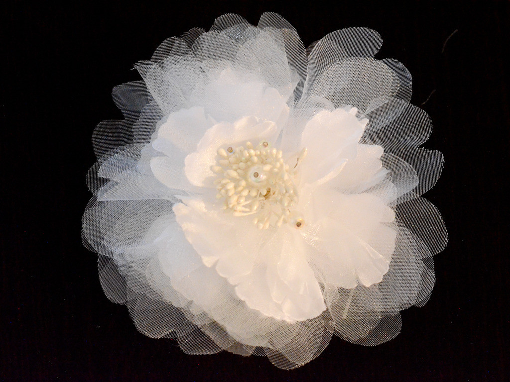 Large multi-layered organza flower