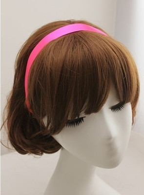 Satin ribbon elastic hair band
