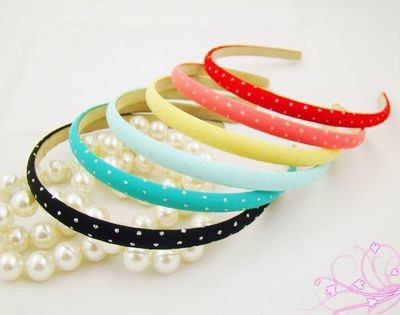 Sparkling dots slim headband