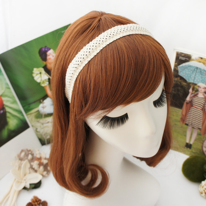 Cotton black-dots headband