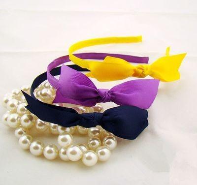 Ribbed-ribbon bowknot headband