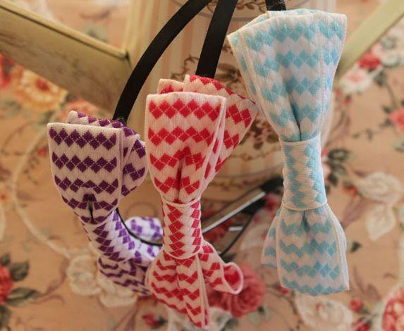 Cotton bow-tie headband