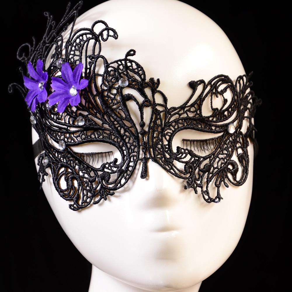 Jewelry lace eye mask