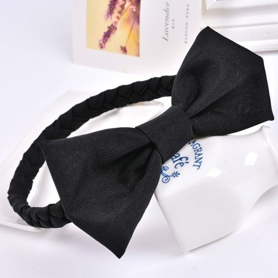 Braided stretch headband bow