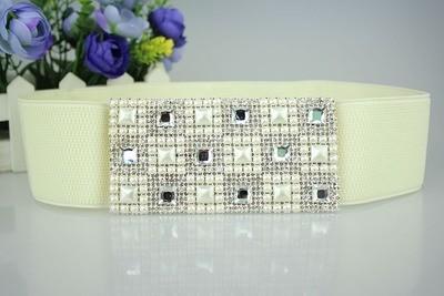 Luxury gems stretch belt