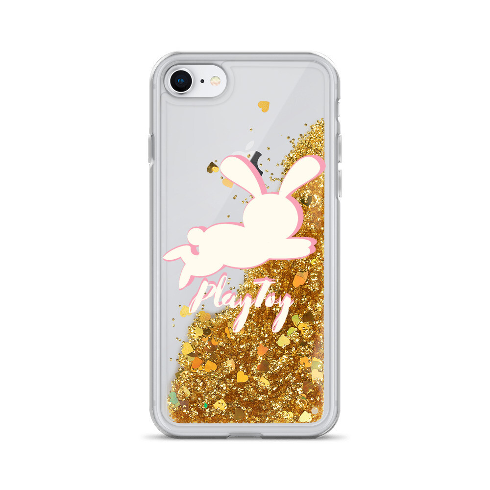 "Liquid Glitter, ""Playtoy Bunny,"" iPhone Case"