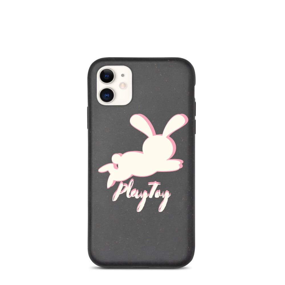 """Biodegradable, """"Playtoy bunny,"""" iPhone case"""