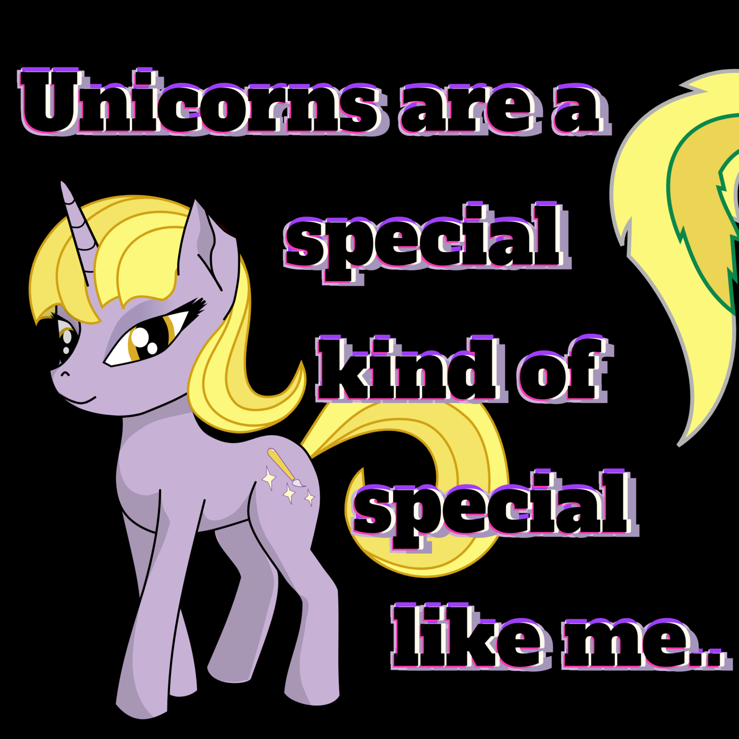 """Girl's slim fit, """"Special like me,"""" Unicorn font T-Shirt.."""