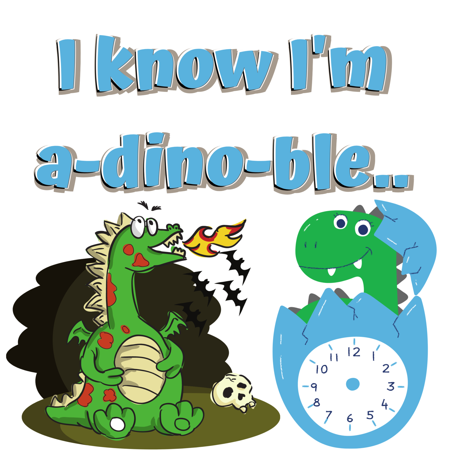 "Infant, ""A-dino-ble,"" Long Sleeve Onesie.."