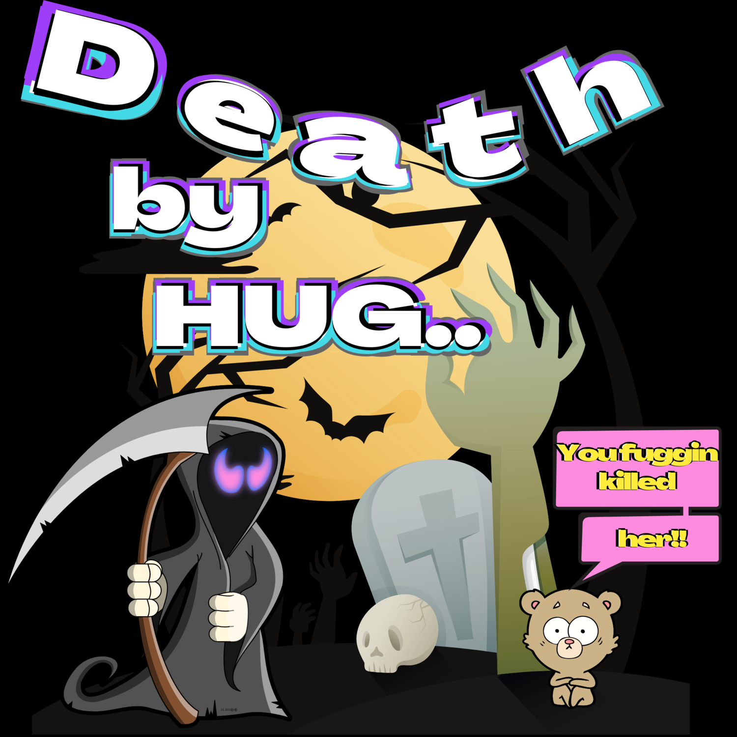 """""""Death by hug,"""" Wicked Love T-Shirt.."""