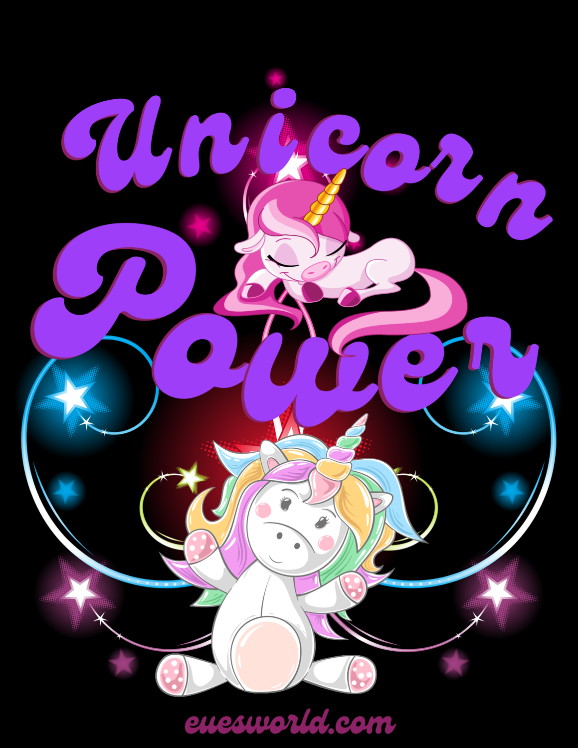 "Women's, ""Unicorn Power,"" Magical T-Shirt.."