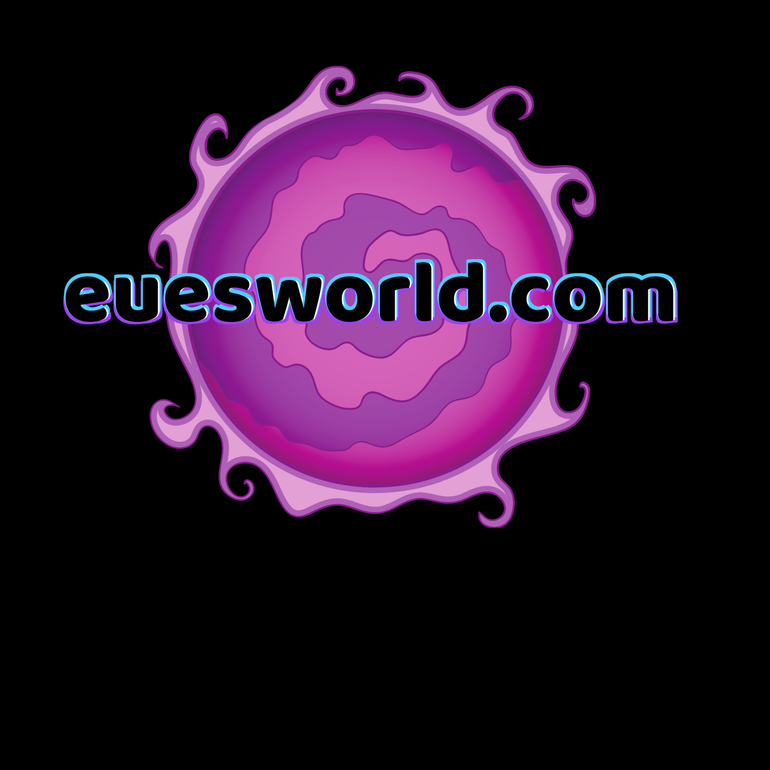 euesworld.com Hoodie of Purple Sun..
